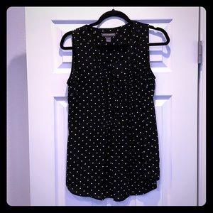 maternity polka dot pleated blouse